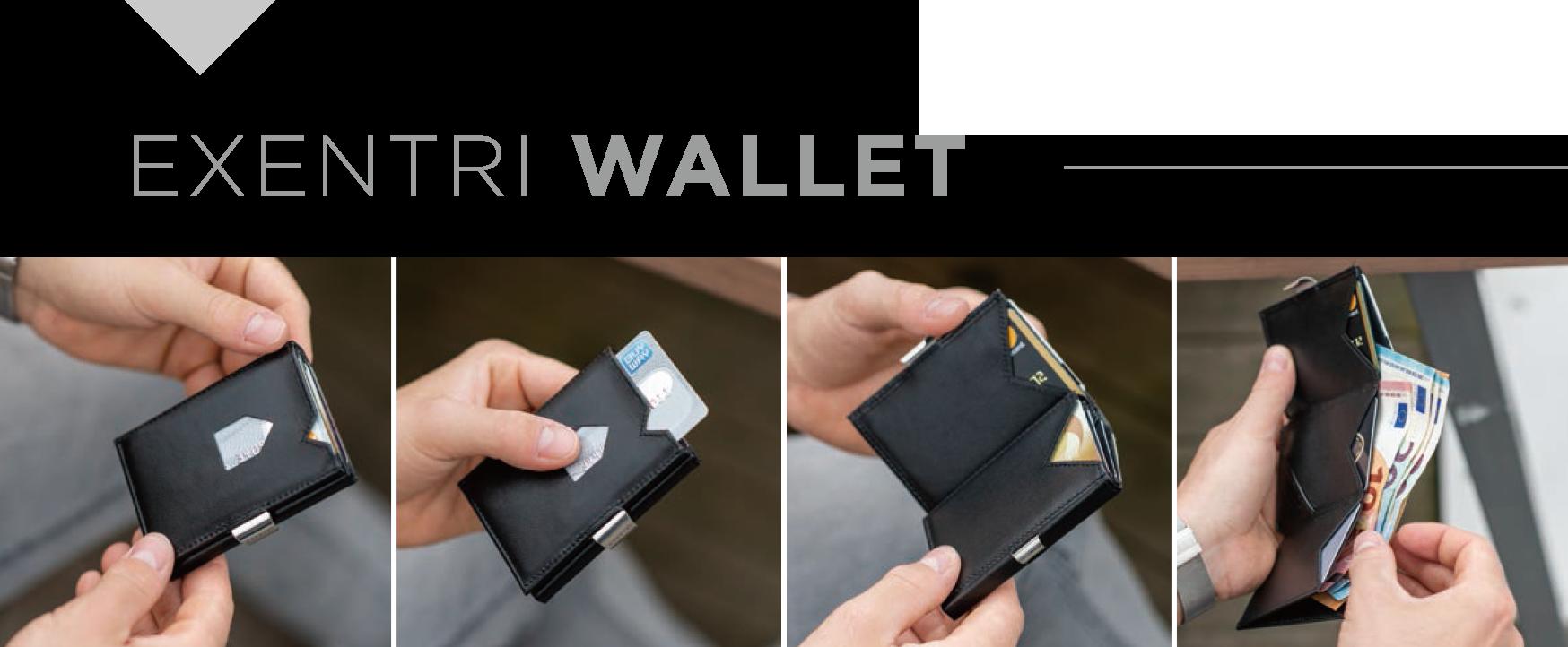 エキセントリ ウォレット,EXENTRI,エキセントリ,財布,三つ折りコンパクト財布,ミニマリスト,キャッシュレス